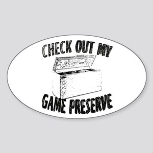 Check out my Game Preserve Oval Sticker