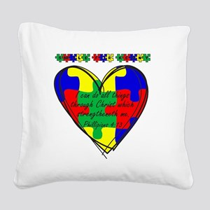 Smile for Kenny Square Canvas Pillow