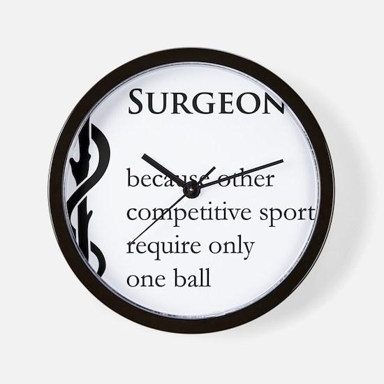 Surgeon Because... Wall Clock