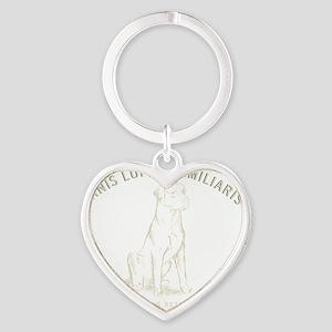 Vintage Labrador Heart Keychain