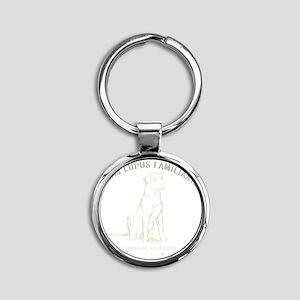 Vintage Labrador Round Keychain