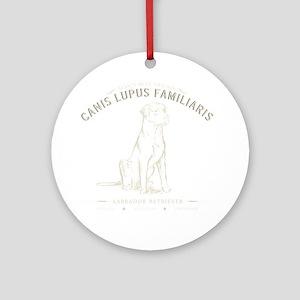 Vintage Labrador Round Ornament