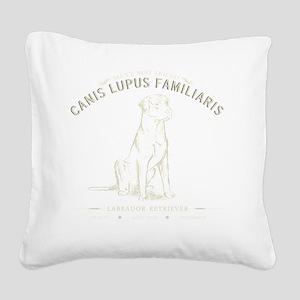 Vintage Labrador Square Canvas Pillow