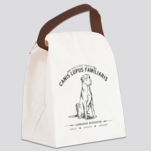 Vintage Labrador Canvas Lunch Bag