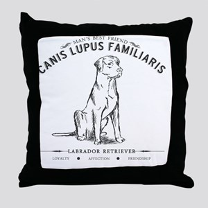 Vintage Labrador Throw Pillow