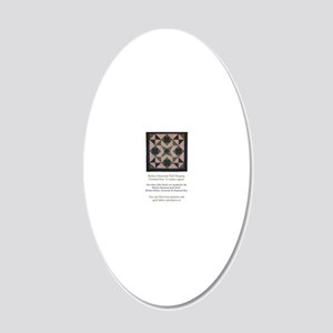 Broken Diamonds back cover 20x12 Oval Wall Decal