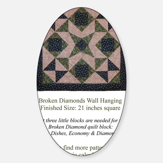 Broken Diamonds back cover Sticker (Oval)