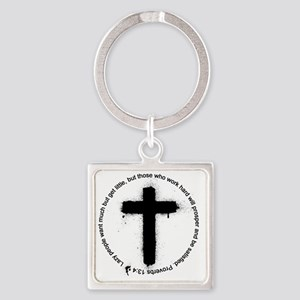 Cross Square Keychain