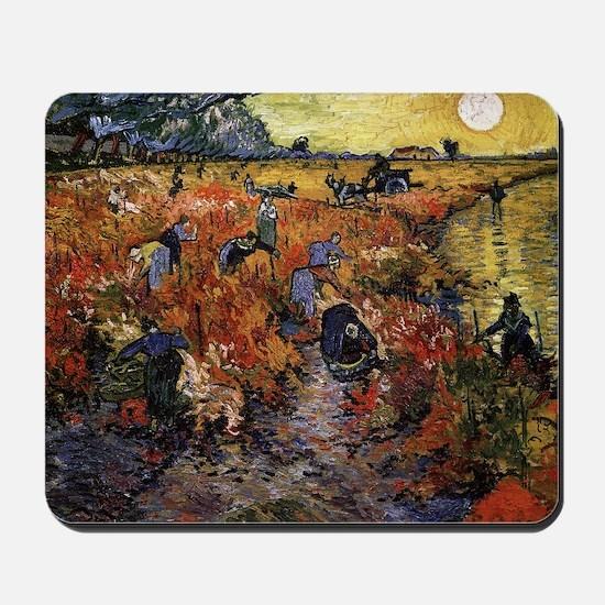 Van Gogh The Red Vineyard Mousepad