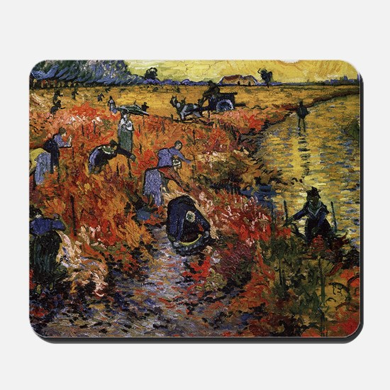 Van Gogh The Red Vineyard. Mousepad