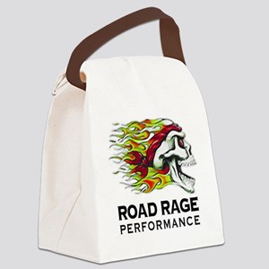 Flaming Skull Logo Canvas Lunch Bag