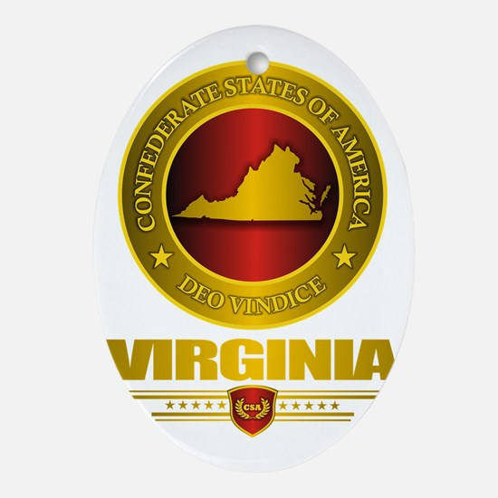 CSA Virginia Oval Ornament