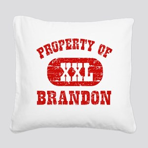 Property of Brandon Square Canvas Pillow