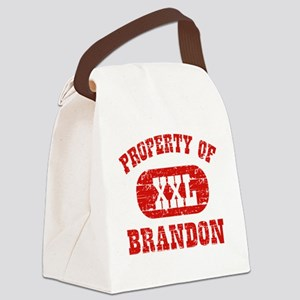 Property of Brandon Canvas Lunch Bag