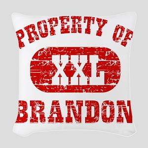 Property of Brandon Woven Throw Pillow