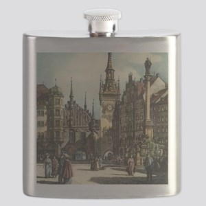 Original 1912 Drawing of Munich Center Flask