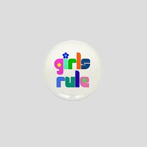 Girls rule Mini Button
