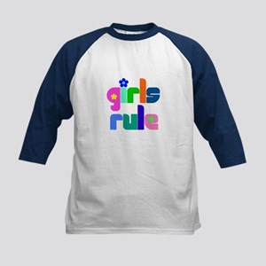 Girls rule Kids Baseball Jersey