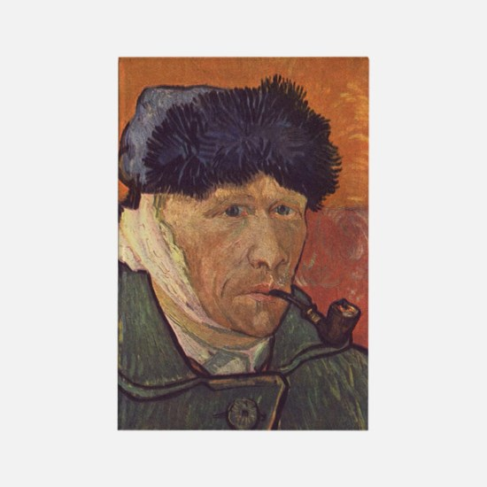 Vincent Van Gogh Self Portrait Rectangle Magnet