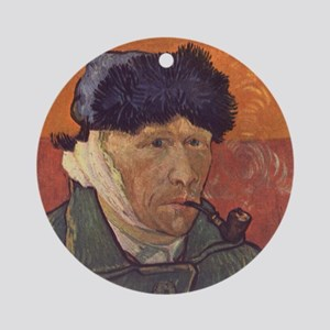 Vincent Van Gogh Self Portrait Round Ornament