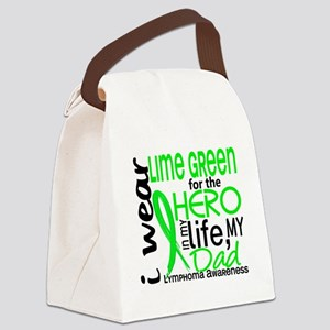 D Hero In Life Dad Lymphoma Canvas Lunch Bag