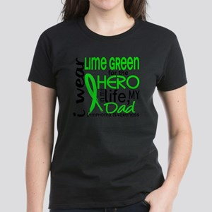 D Hero In Life Dad Lymphoma Women's Dark T-Shirt