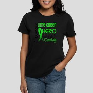 D Hero In Life Daddy Lymphoma Women's Dark T-Shirt