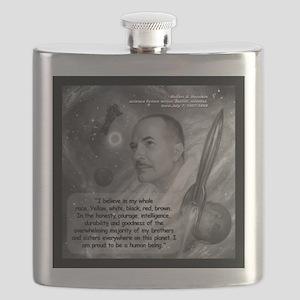Heinlein Believe Quote 2 Flask
