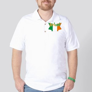 The Ireland flag ribbon Golf Shirt