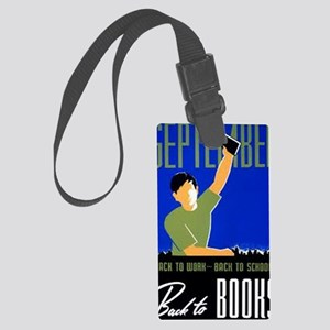 Back to Books Large Luggage Tag