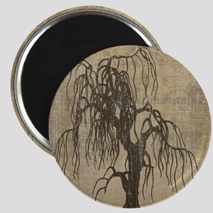 Vintage Willow Tree Magnet
