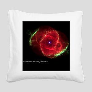 Cats Eye Nebula Square Canvas Pillow