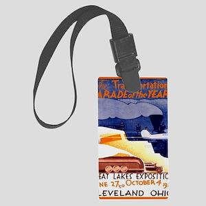 Cleveland Transportation Parade  Large Luggage Tag