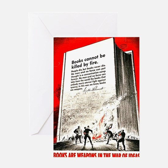 Books are weapons in the war of idea Greeting Card