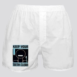 Keep your teeth clean Boxer Shorts