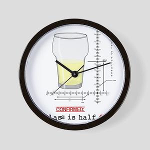 Glass is half full Wall Clock