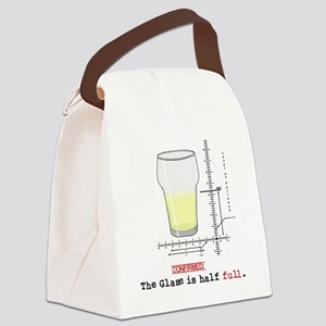 Glass is half full Canvas Lunch Bag