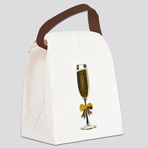 Champagne Glass Canvas Lunch Bag