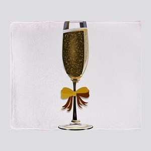 Champagne Glass Throw Blanket