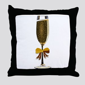 Champagne Glass Throw Pillow
