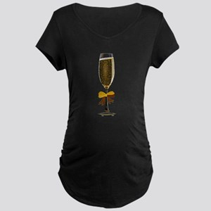 Champagne Glass Maternity T-Shirt