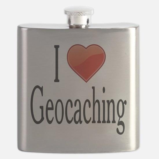 I Love Geocaching Flask