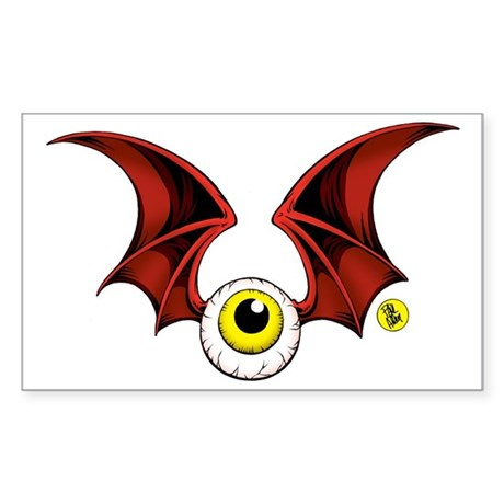 cropped flying eyeball Sticker (Rectangle)