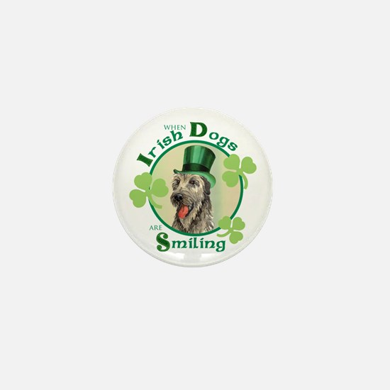 St. Patrick Irish Wolfhound Mini Button