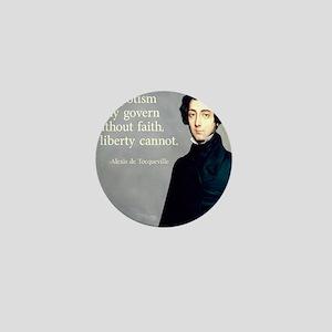 de Tocqueville Faith Quote Mini Button