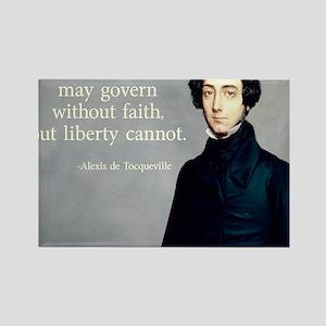 de Tocqueville Faith Quote Rectangle Magnet