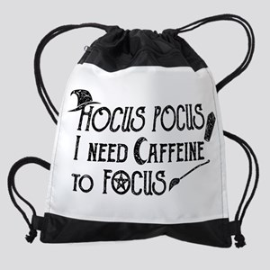 Hocus Pocus, I need Caffeine to Foc Drawstring Bag