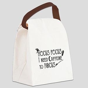 Hocus Pocus, I need Caffeine to F Canvas Lunch Bag