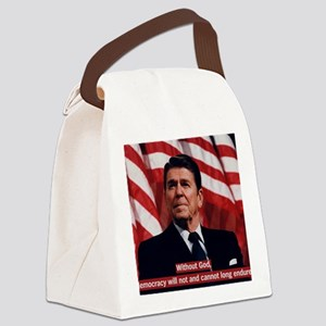 Ronald Reagan God Quote Canvas Lunch Bag
