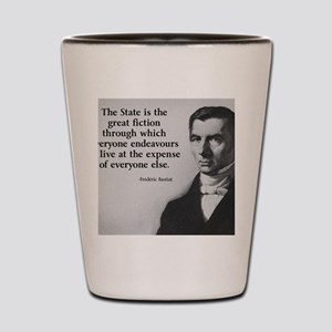 Frederic Bastiat Quote Shot Glass